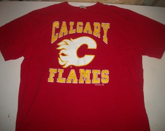 CALGARY FLAMES team shirt 1990