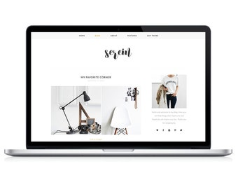 Wordpress Theme - Serein - Responsive Wordpress Blog Design - Woocommerce Wordpress Template - Wordpress Theme Feminime - Wordpress Modern