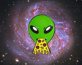 A Taste of Heaven Alien Pizza Pin
