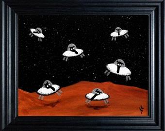 """""""Space Sheep"""" (Ready Framed) Original"""