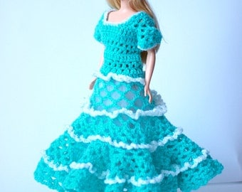Knitted doll dress