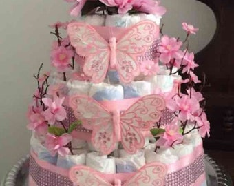 Baby Shower Girl Diaper Cake
