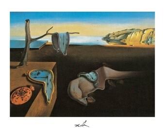 Salvadore Dali Persistence Of Memory print poster wall art 11 x 14