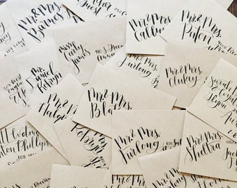 Custom Calligraphy // Wedding Calligraphy Invitation // Save the Date // Envelope Hand Lettering // Envelope Calligraphy