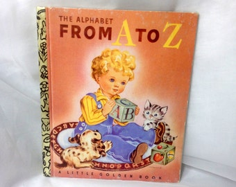 The Alphabet From A to Z, a Little Golden Book, 50th Anniversary Edition, 1942-1992, by Leah Gale, illustrated by Vivienne Blake