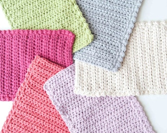 Crasty Flap/ Irma / Changeable crochet flap in cotton for colorful pouch bag