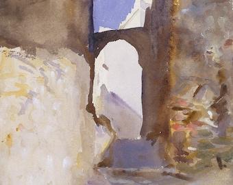John Singer Sargent: Street, Tangier. Fine Art Print/Poster. (002387)