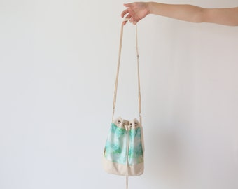 Bucket bag,canvas bucket bag,  bucket purse.