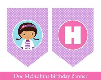 Doc McStuffins Banner, Doc McStuffins Birthday Banner, PRINTABLE PARTY BANNER, Doc McStuffins party, Doc McStuffins decoration,