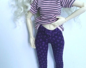 Purple Minifee MSD slim manchester jeans pants