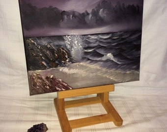 STORMY SEA oil painting on canvas/ direct from the artist/ Hand made/Hand painted with oils.