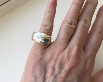 Modernist Sterling Ring -- 110