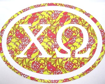 Chi Omega Sticker Decal Sorority - Great Initiation, Bid Day or Big Little Gift!