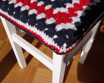 Crochet seat cover
