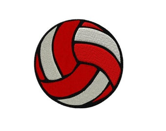 Two Tone Volleyball Machine Embroidery Design - dst, exp, hus, jef, pcs, pes, sew, vip, vip3, xxx, pxf