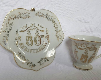 50th Anniversary Tea cup and saucer set