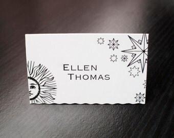 Custom celestial place cards