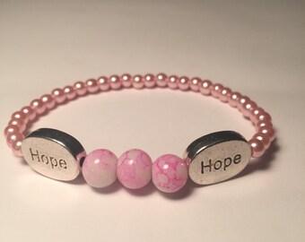 """Breast Cancer """"Hope"""" Bracelet"""