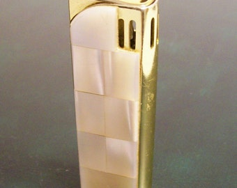 GREAT 2017 DEALS!  CREST Fire: Vintage Mother of pearl Lighter - Mid-Century Collectible / Was 90