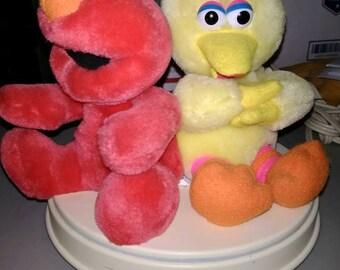 Vintage Sesame Street Big Bird Elmo Child's Baby Nursery Lamp
