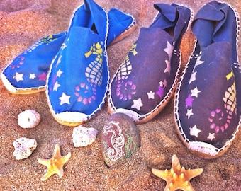 Espadrilles SEAHORSES & STARS