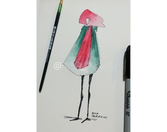 Original Watercolour Fashion Sketch