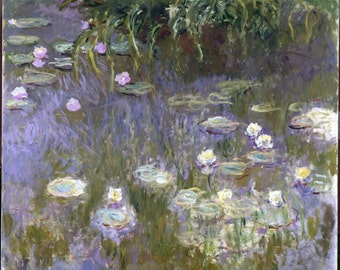 Waterlilies by Claude Monet, Giclee Canvas Print, in various sizes
