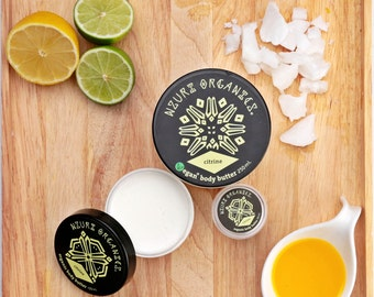 Organic & Vegan Citrine Body Butter - Handmade