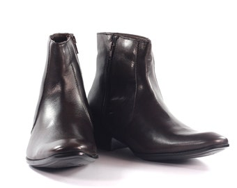 Aspele Mens Brown Classic Leather Chelsea Ankle Boots