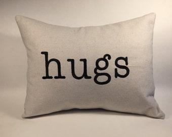 Hugs Pillow 12x16