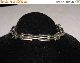 Vintage Sterling 925 Silver Chain Links Bracelet 8""