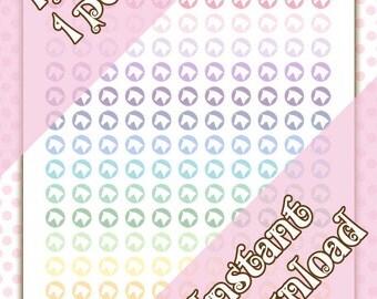 Printable Horse Head Pastel Planner Icon Stickers - Equestrian - Horseback Riding