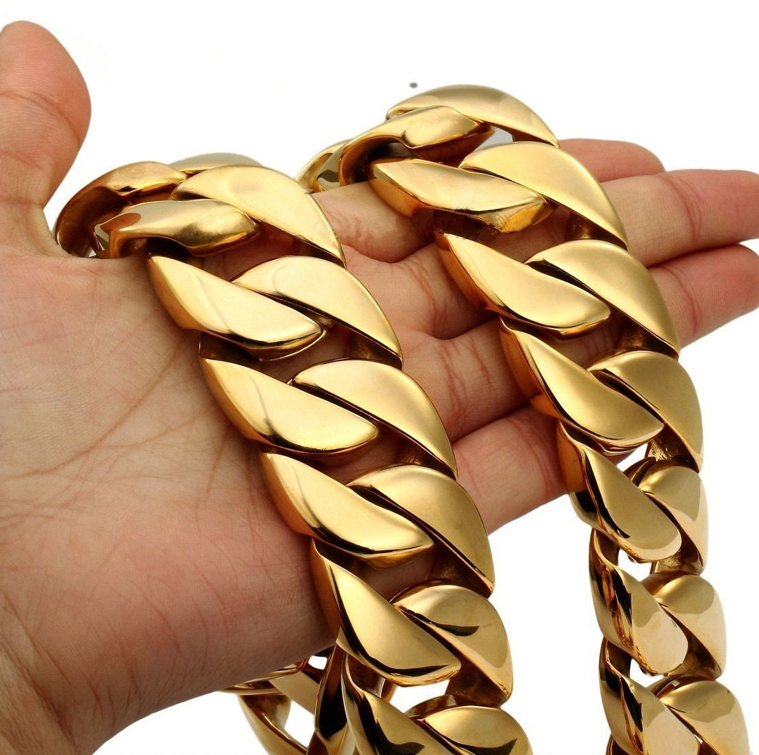 32mm Chunky Massive Miami Cuban Link Chain Necklace Heavy