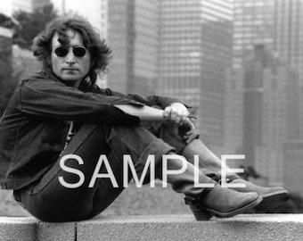 Fabric Art Quilt Block - The Beatles -  John Lennon - BEAT264  FREE Shipping
