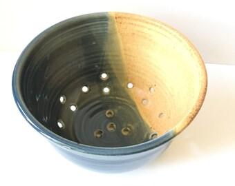 Studio Pottery Ceramic Colander.
