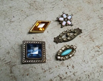 Jewelry Destash Five Vintage and Antique Pins.