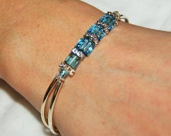 Swarovski Crystal March Birthstone Bracelet