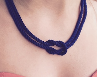 Nautical cord knot necklace