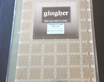 """Gingher 6-1/2"""" X 12-1/2"""" acrylic ruler"""