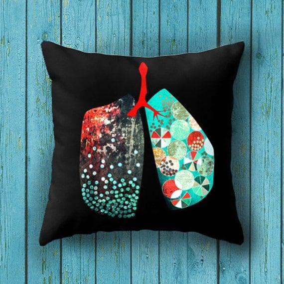 Throw Pillow case graphic design human anatomy cushion