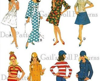 Copy of Vintage McCalls Francie/Barbie Wardrobe 8531