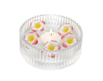 Stemple's 25 Plumeria Blooms - Perfect for floating centerpieces and Leis - Artificial Real Touch