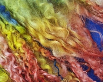 100gms Lincoln Longwool Sheep Locks Dyed to Order