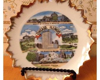 Chicago, Illinois ceramic souvenir plate