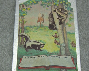 Vintage Forest Animal Book Plates