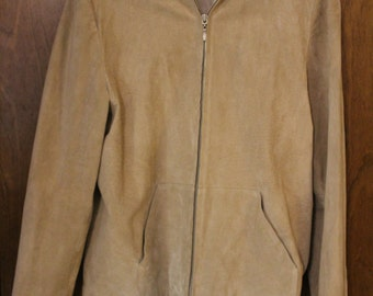 Vintage Saks Fifth Avenue Suede Leather Jacket - Women's XL - Classic