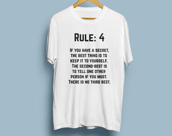 NCIS Leroy Jethro Gibbs' Rules T-shirt - Rule 4 - If you have a secret, the BEST thing is to keep it to yourself.