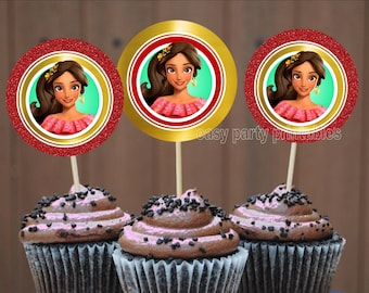 Elena of Avalor Cupcake toppers, Instant Download, Cupcake toppers, easily print from home, princess party, printable toppers, sale, DIY