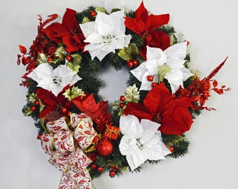 Christmas Wreath, Pine Wreath, Door Wreath, Holiday Wreath, Holiday Traditions, Ready to Ship!
