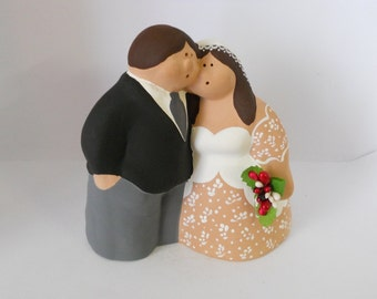 Wedding cake topper in clay